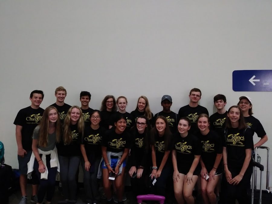 Visitation and St. Thomas students in Costa Rica.