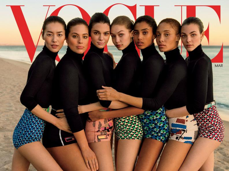 Courtesy+of+Vogue.+While+representation+in+the+media+has+come+a+long+way%2C+it+is+still+not+where+it+needs+to+be.+While+diversity+of+race+is+represented+in+this+photo%2C+there+is+little+to+no+diversity+in+body+type.+