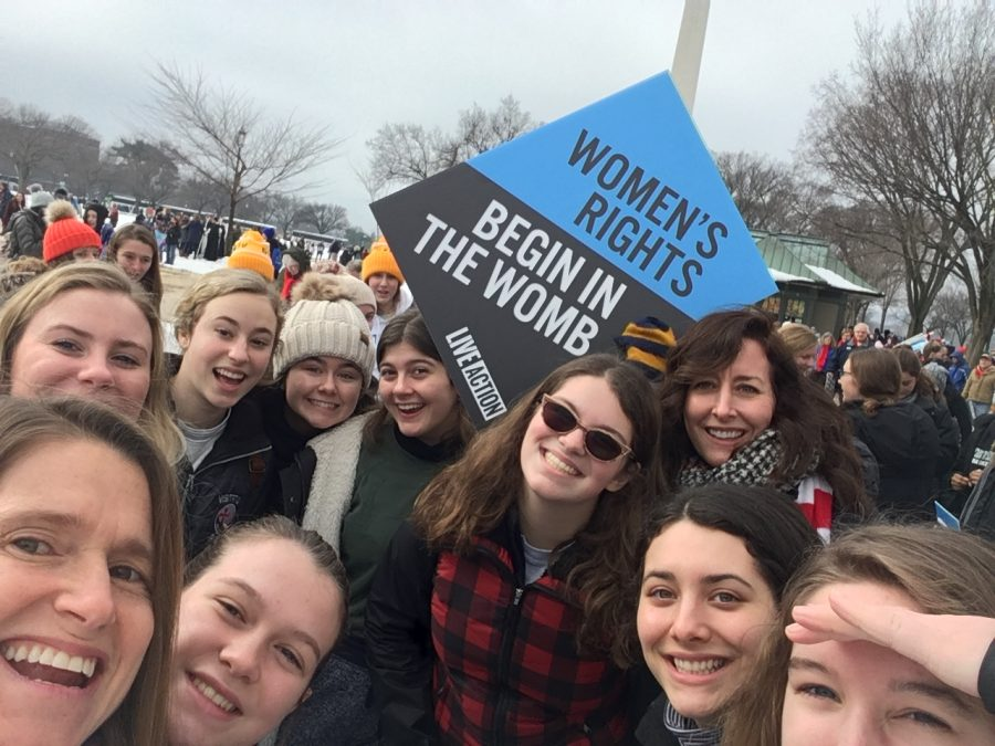 Vis students at Washington DC rally.