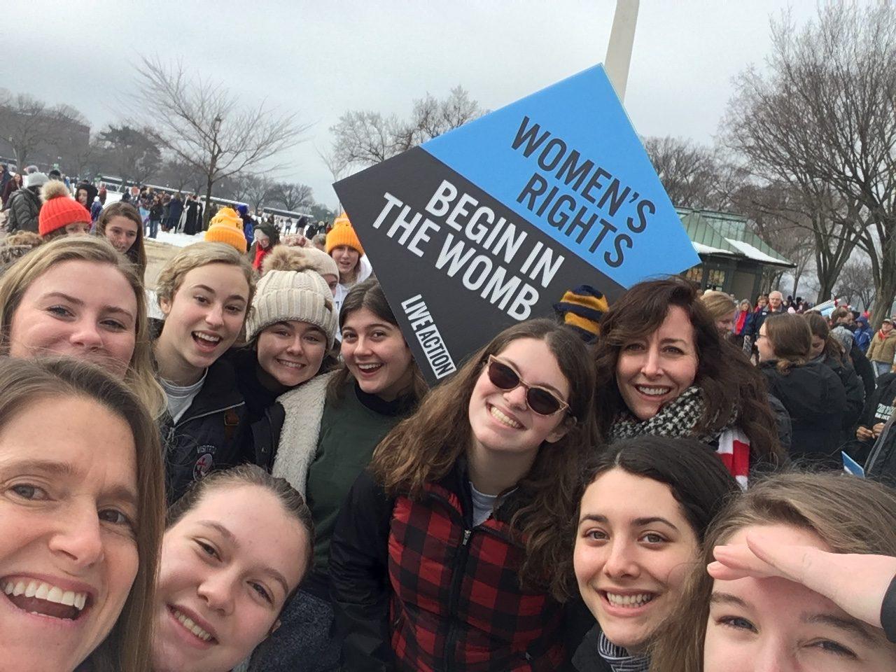 Vis students at Washington DC rally.