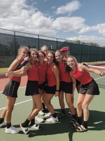 Visitation Tennis - one of the largest teams in the state