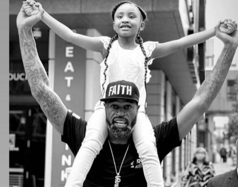 Giana Floyd with former NBA player Stephen Jackson. Photo courtesy of Instagram.