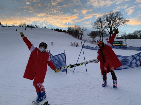 Lucia Castro and Grace Keeley at an Alpine Race this season.