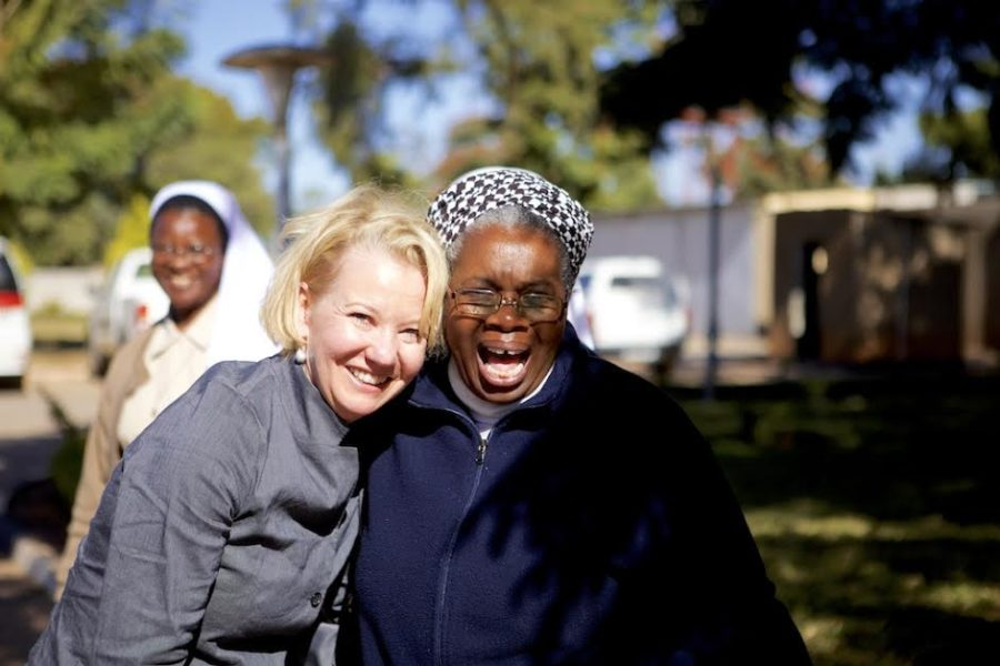 Amy Goldman during a trip to Lusaka, Zambia where she met with sisters from the Zambian Association of Sisters in 2016.