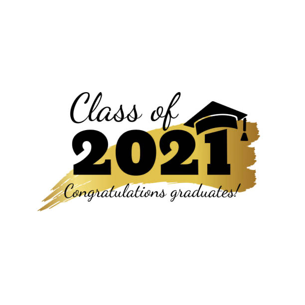 Class+of+2021.+Hand+drawn+brush+gold+stripe+and+number+with+education+academic+cap.+Template+for+graduation+party+design%2C+high+school+or+college+congratulation+graduate%2C+yearbook.+Vector+illustration.