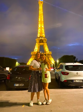 Kate Kelly at the Eiffel Tower this summer.   Image provided by Kate Kelly.